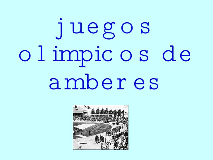 juegos olimpicos de amberes