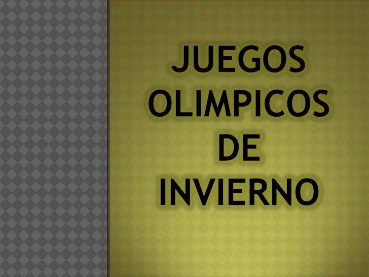 JUEGOS OLIMPICOS DE INVIERNO<br />