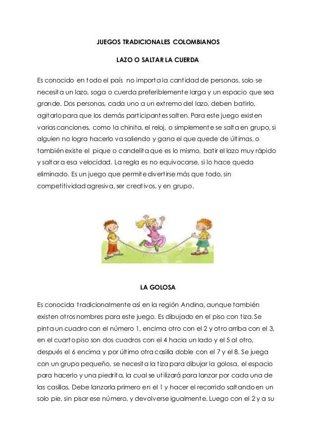 Juegos Tradicionales Colombianos