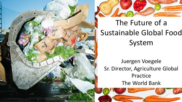 The Future of a Sustainable Global Food System Juergen Voegele Sr. Director, Agriculture Global Practice The World Bank Ph...