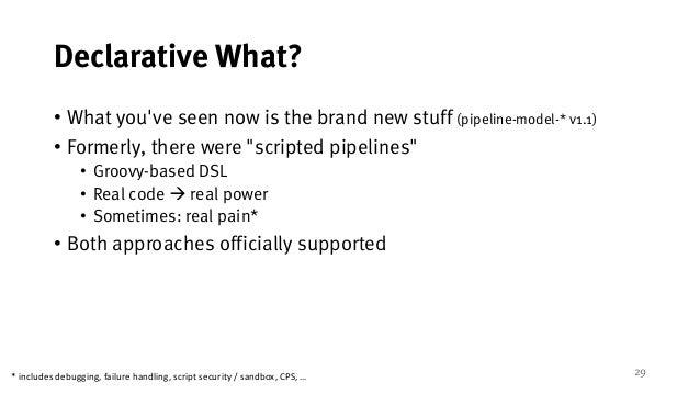 Declarative) Jenkins Pipelines