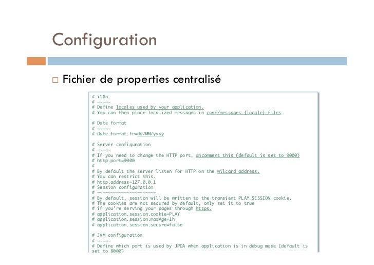 Configuration   Fichier de properties centralisé          # i18n          # ~~~~~          # Define locales used by yo...