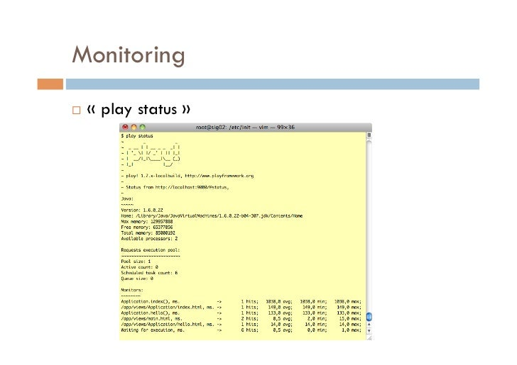 Monitoring   «play status»