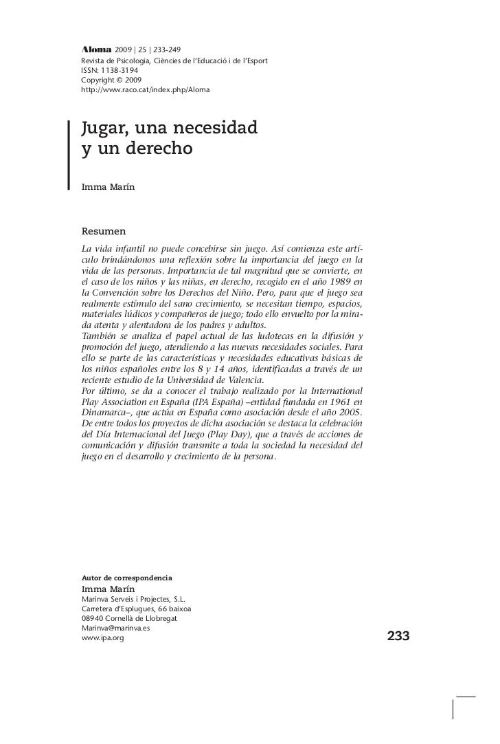 2009 | 25 | 233-249Revista de Psicologia, Ciències de l'Educació i de l'EsportISSN: 1138-3194Copyright © 2009http://www.ra...