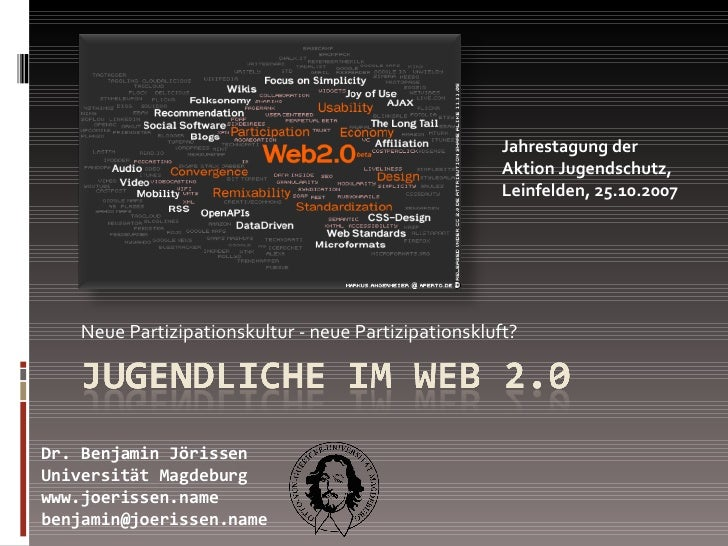 Neue Partizipationskultur - neue Partizipationskluft? Dr. Benjamin Jörissen Universität Magdeburg www.joerissen.name [emai...