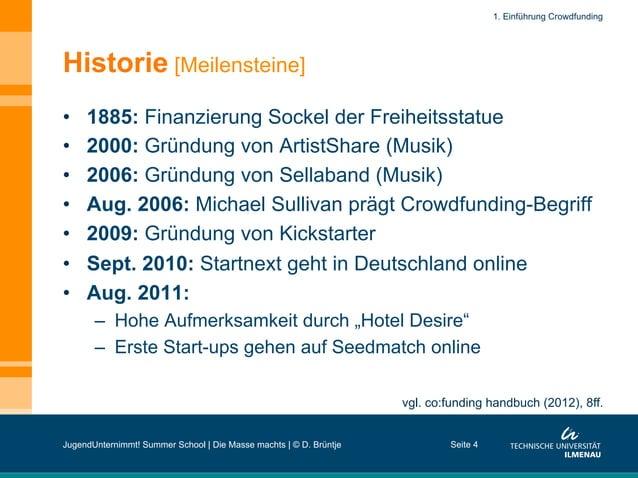 Historie [Meilensteine] • 1885: Finanzierung Sockel der Freiheitsstatue • 2000: Gründung von ArtistShare (Musik) • 2006...