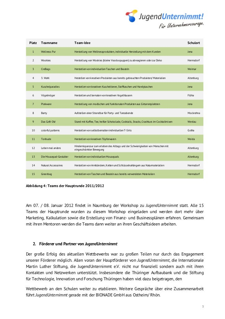 JugendUnternimmt Newsletter Dezember 2011 Slide 3