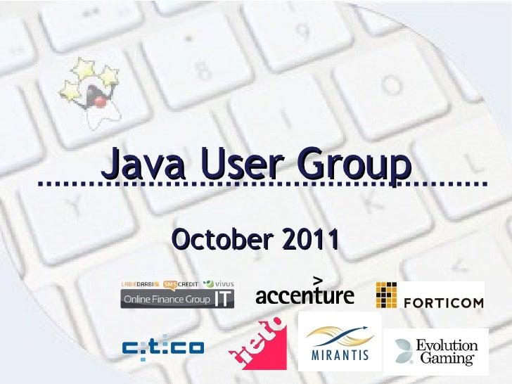 Java User Group October 2011