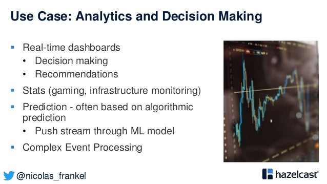 @nicolas_frankel Use Case: Analytics and Decision Making  Real-time dashboards • Decision making • Recommendations  Stat...