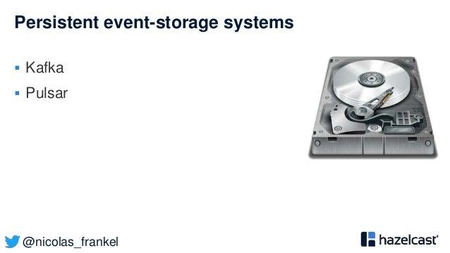 @nicolas_frankel Persistent event-storage systems  Kafka  Pulsar