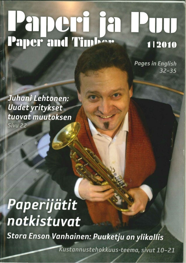 Juhani lehtonen in paper and timber 1 2010