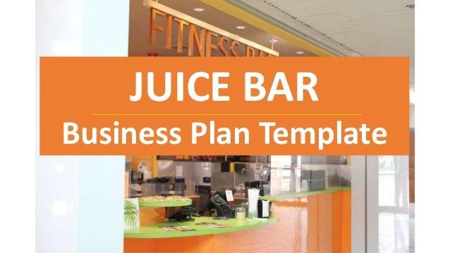 juice bar business plans