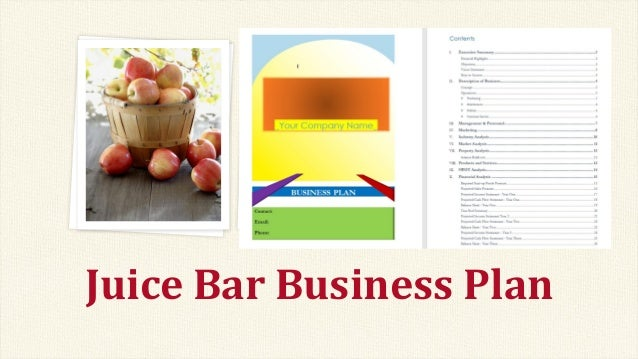 business plan juice bar
