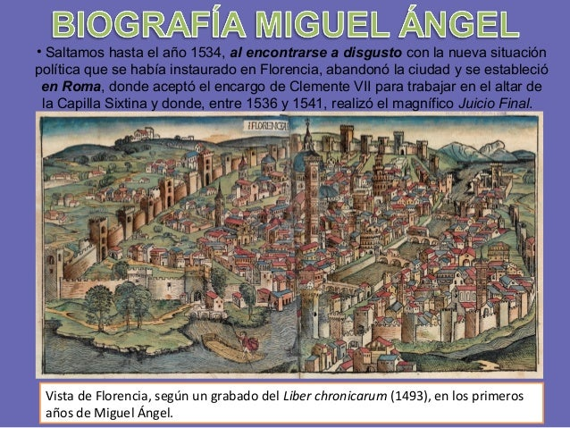 • Saltamos hasta el año 1534, al encontrarse a disgusto con la nueva situación política que se había instaurado en Florenc...