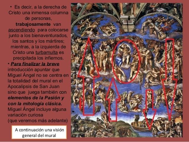 • Es decir, a la derecha de Cristo una inmensa columna de personas, trabajosamente van ascendiendo para colocarse junto a ...