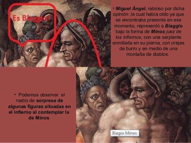 • Miguel Ángel, rabioso por dicha opinión ,la cual había oído ya que se encontraba presente en ese momento, representó a B...