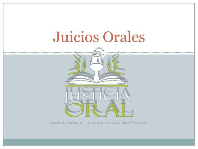 Juicios Orales
