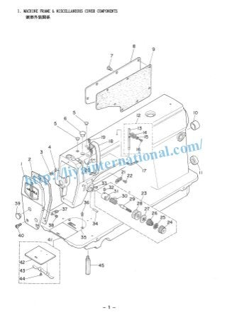 Juki Sewing Machine Parts List