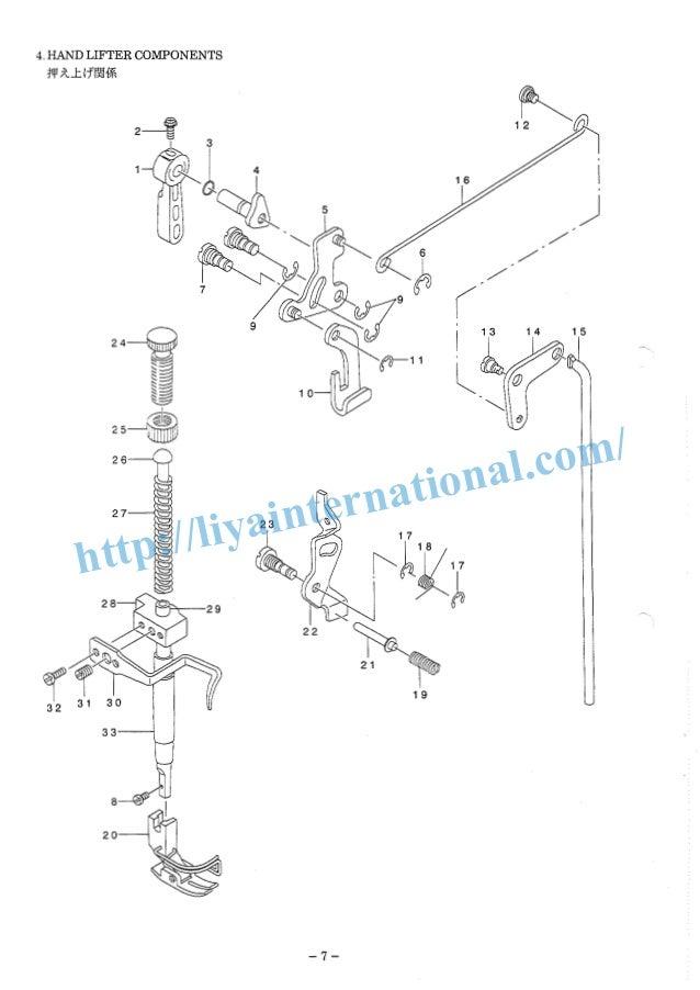 Juki ddl 8500 series, parts list