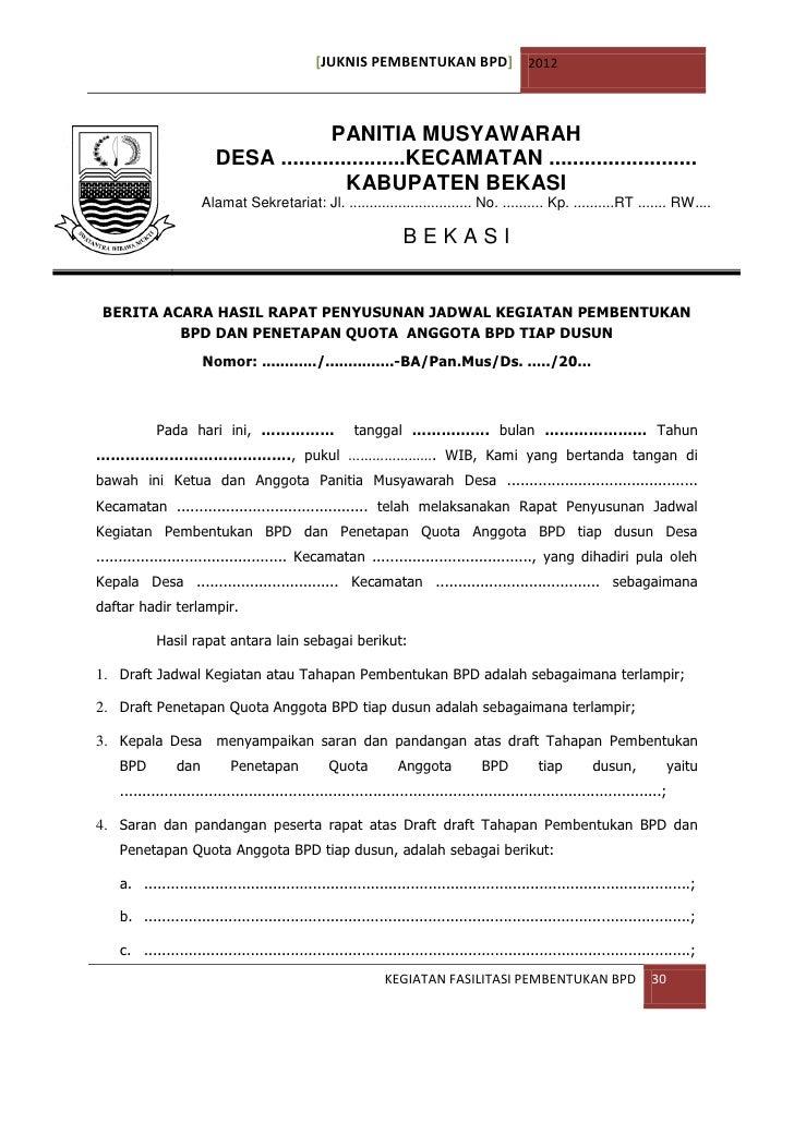 56 Berita Acara Musyawarah Dusun