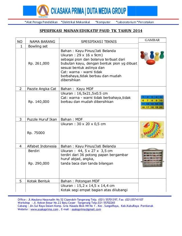 *Alat Peraga Pendidikan *Elektrikal Mekanikal *Ko Office : Jl.Maulana Hasanudin No.52 Cipondoh Workshop : Jl. Kebon Besar ...
