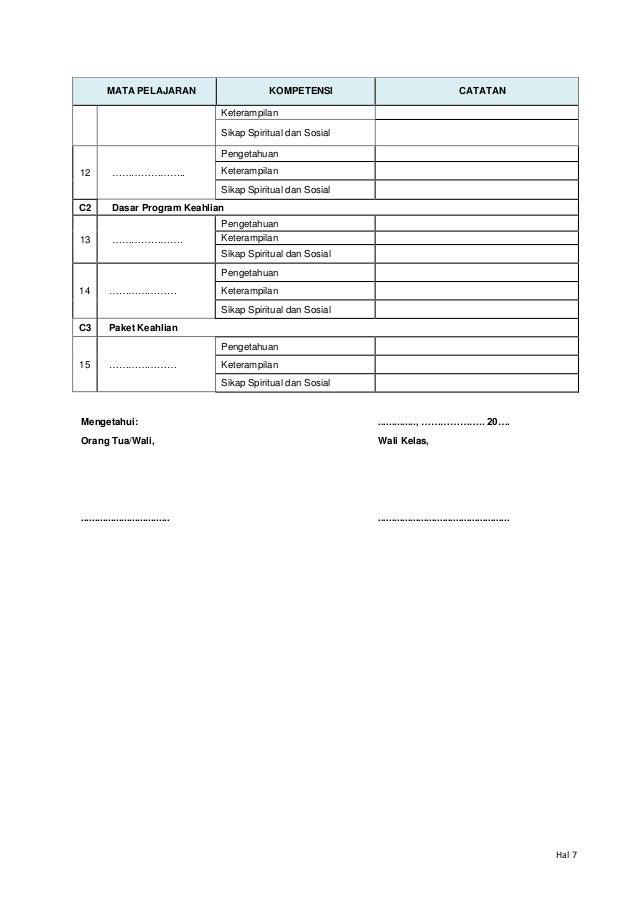 Juknis dan Model Rapor SMK Kurklm 2013 (skala 0 4)