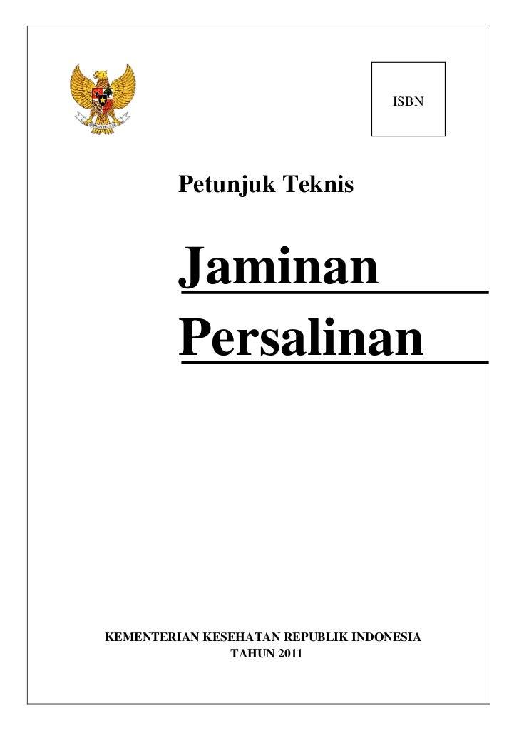 Draft                                   14/03/11                                    ISBN         Petunjuk Teknis         J...