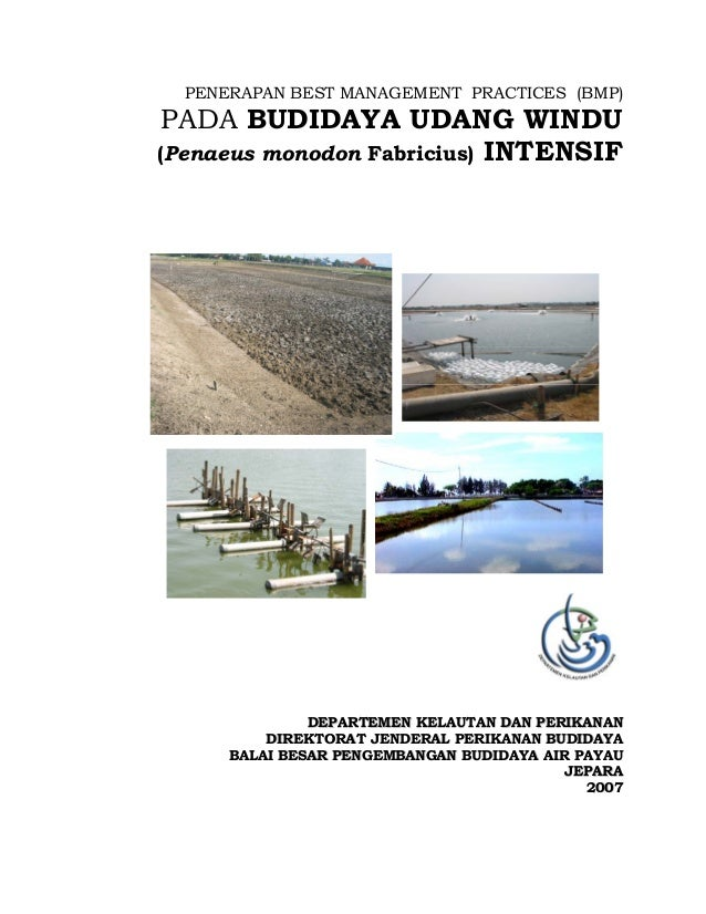 PENERAPAN BEST MANAGEMENT PRACTICES (BMP) PADA BUDIDAYA UDANG WINDU (Penaeus monodon Fabricius) INTENSIF DDEEPPAARRTTEEMME...