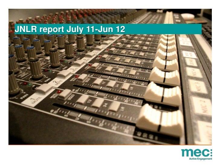 JNLR report July 11-Jun 12