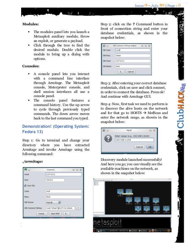 Armitage – The Ultimate Attack Platform for Metasploit