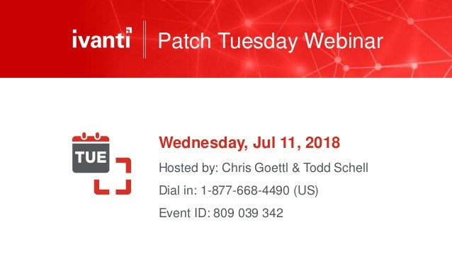 July 2018 Patch Tuesday Analysis