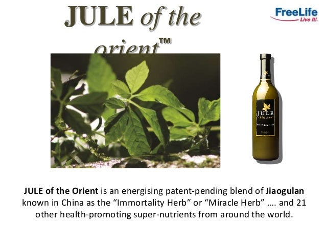 """JULE of the orient™ JULE of the Orient is an energising patent-pending blend of Jiaogulan known in China as the """"Immortali..."""