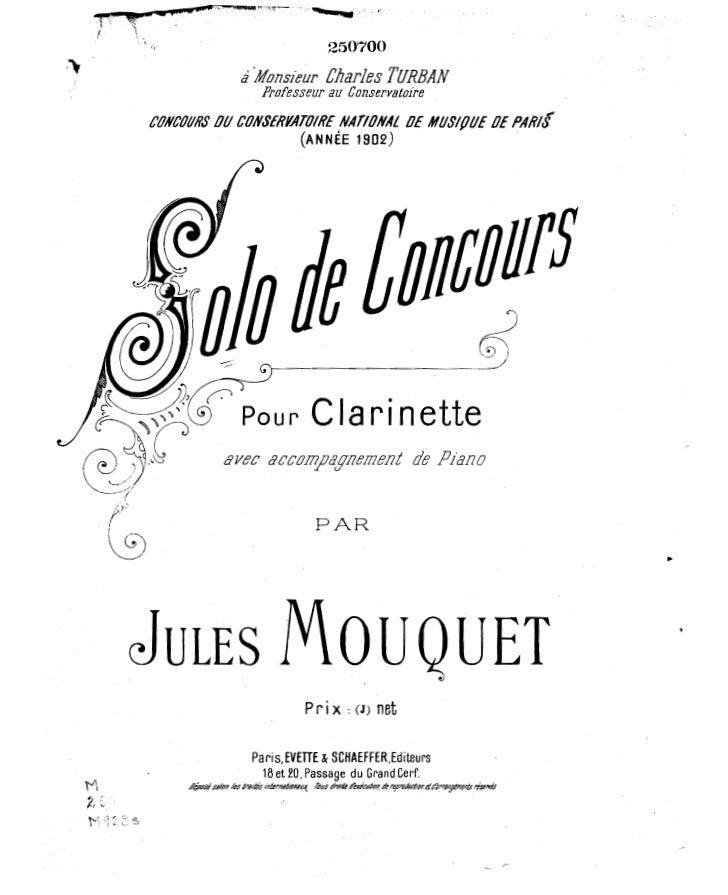 Jules mouquet   solo de concours
