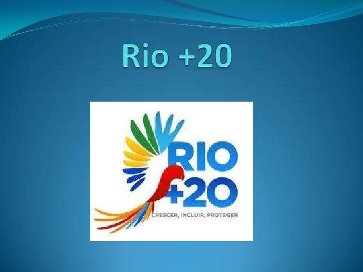 O que significa Rio +20 : Rio +20 é um desenvolvimento sustentável que tenta esclarecer Objetivos e expectativas. Vinte ...