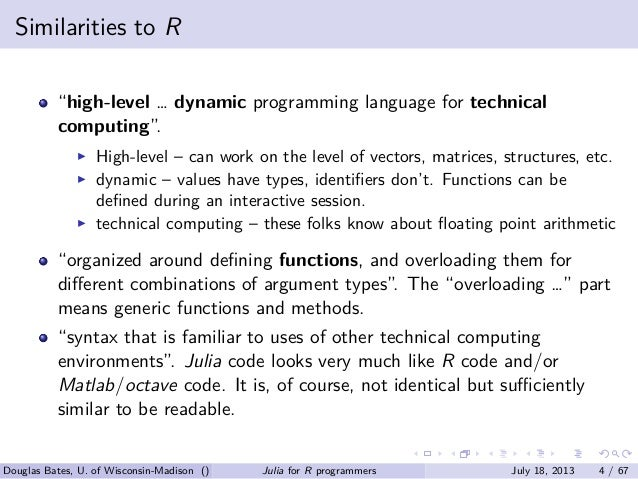 Julia for R programmers