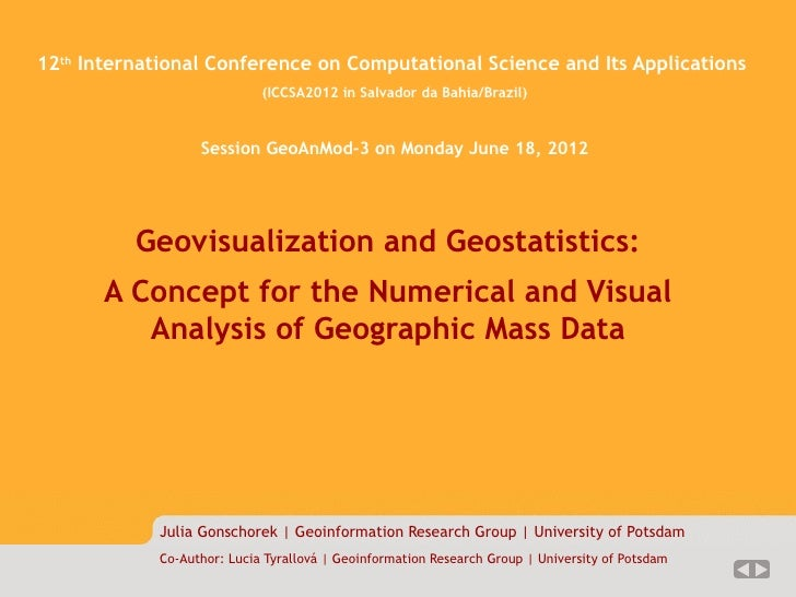 Magisterarbeit 1/??   12 International Conference on Computational Science and Its Applications      th                   ...