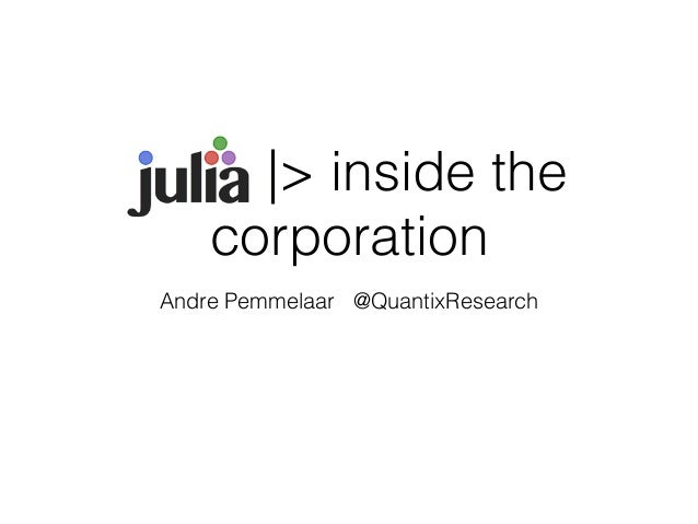 |> inside the  corporation  Andre Pemmelaar @QuantixResearch