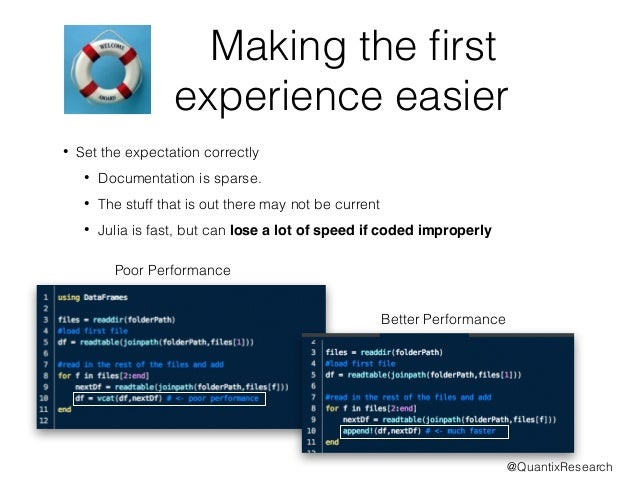 Making the first  experience easier  • Set the expectation correctly  • Documentation is sparse.  • The stuff that is out ...