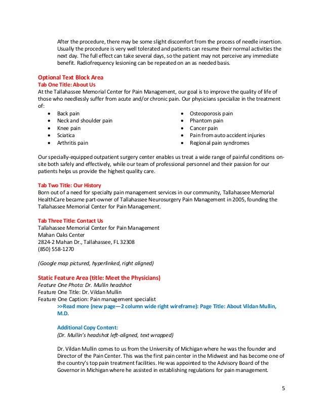 Pain management thesis