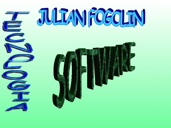 JULIAN FOGOLIN TECNOLOGIA SOFTWARE