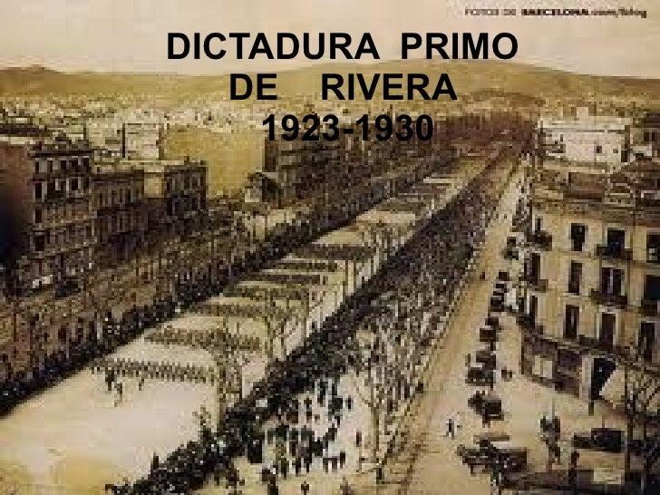 DICTADURA  PRIMO  DE  RIVERA  1923-1930
