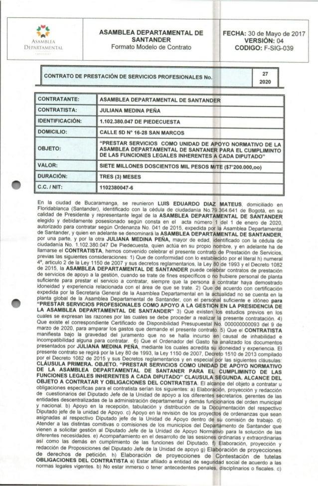 Contrato Asamblea - Juliana Medina Peña