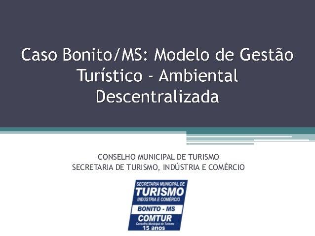 CONSELHO MUNICIPAL DE TURISMO SECRETARIA DE TURISMO, INDÚSTRIA E COMÉRCIO