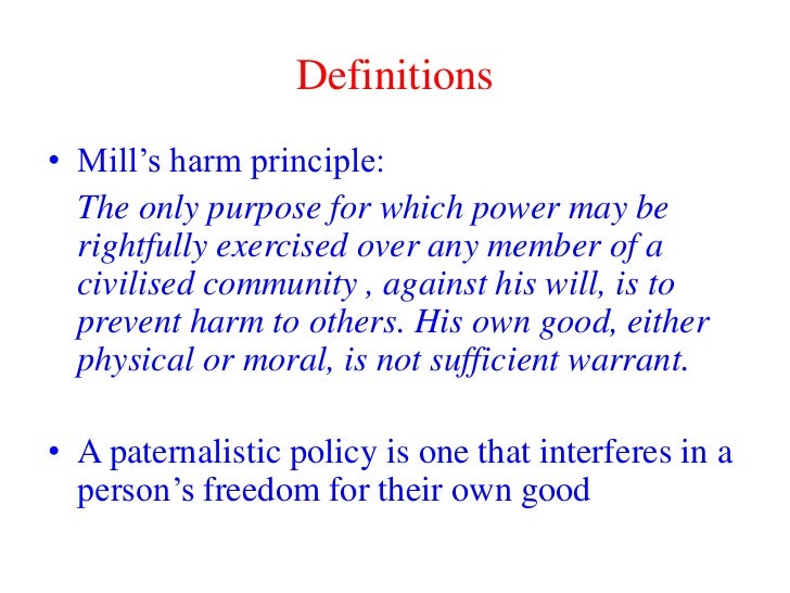 Paternalism in social policy when is it justifiable?