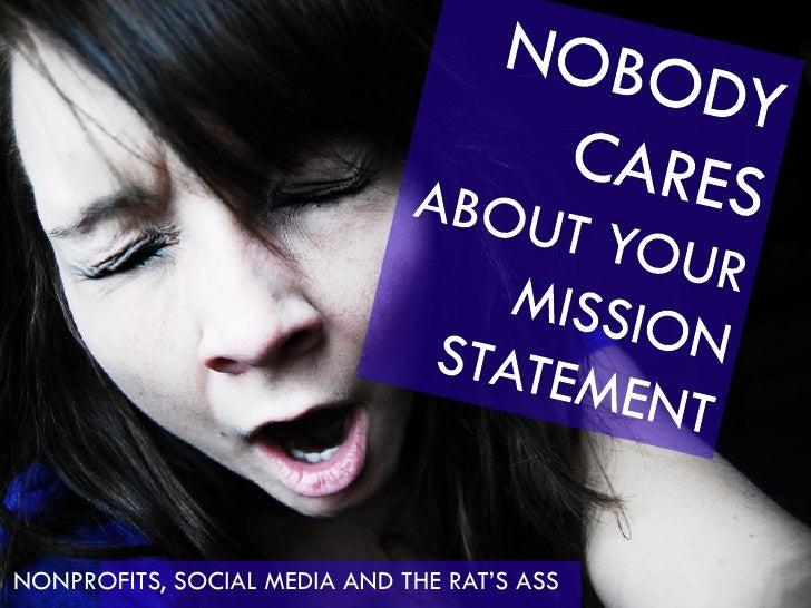 NONPROFITS, SOCIAL MEDIA AND THE RAT'S ASS