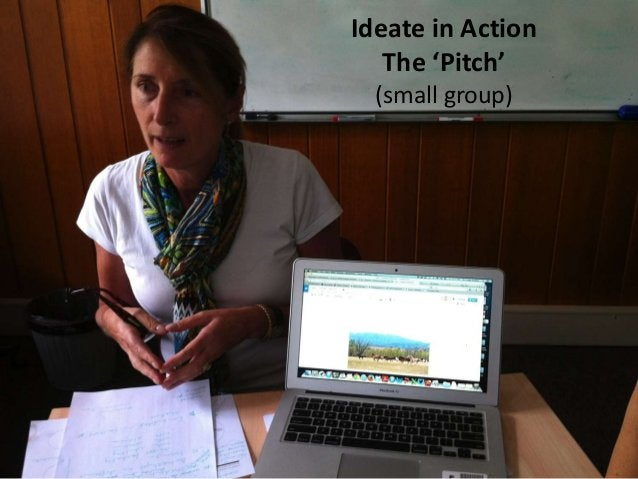 Ideate in Action The 'Pitch' (small group)