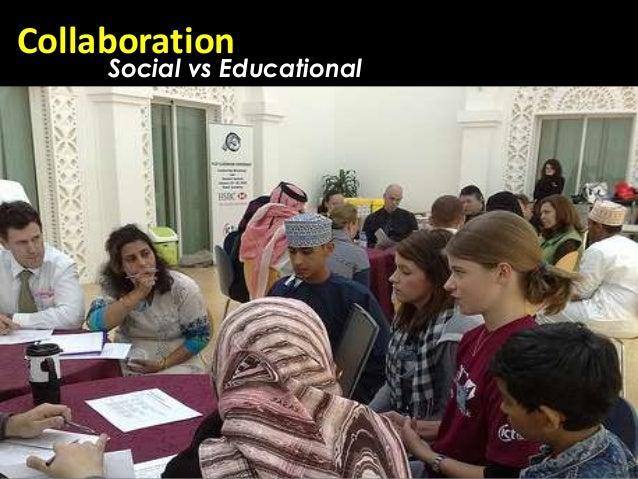 Collaboration     Social vs Educational