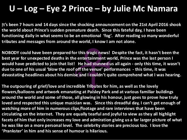 It's been 7 hours and 14 days since the shocking announcement on the 21st April 2016 shook the world about Prince's sudden...