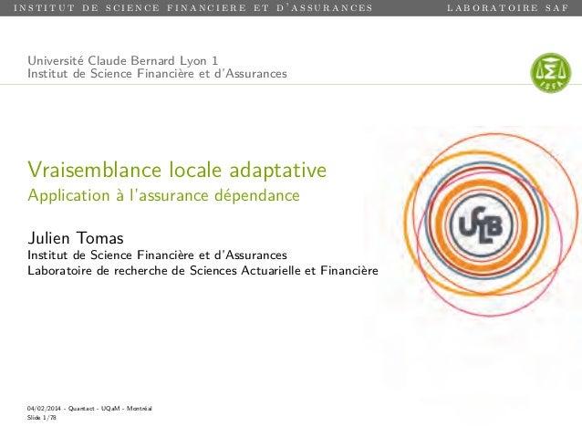 institut de science financiere et d'assurances  Université Claude Bernard Lyon 1 Institut de Science Financière et d'Assur...