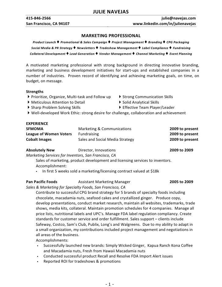 Julie Navejas Resume